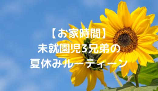 【お家時間】未就園児3兄弟の夏休みルーティーン